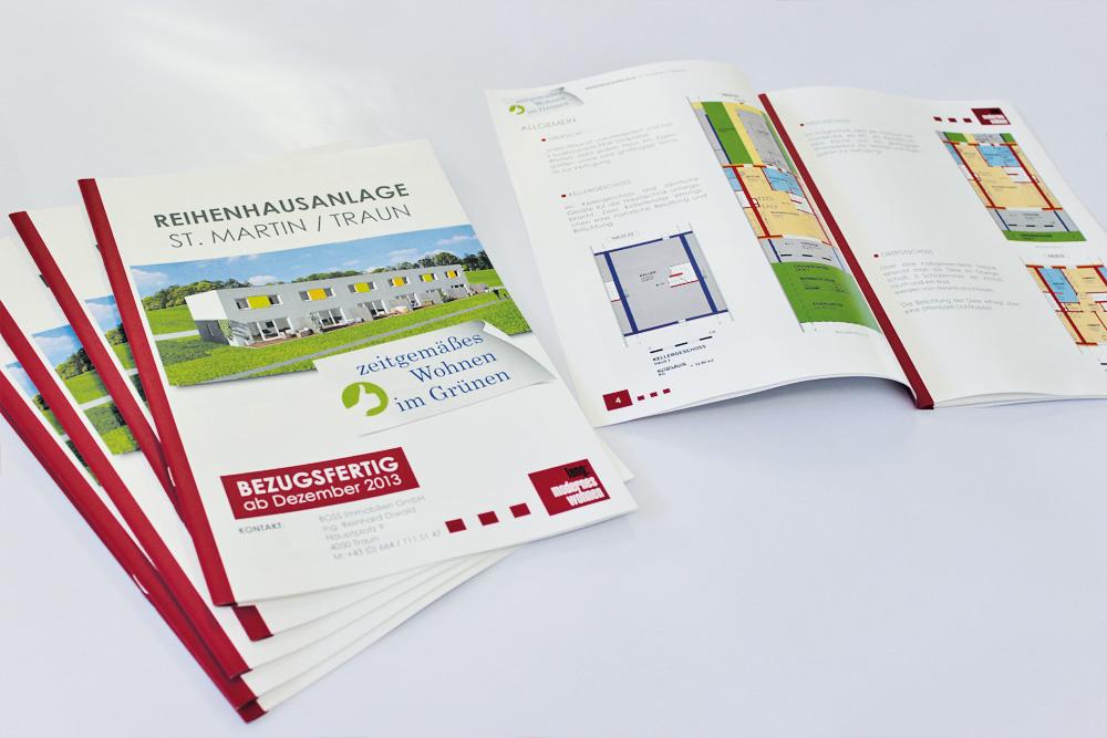 verkaufsbroschüre A4, 20-seitig