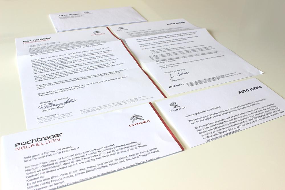 personalisierte briefe und kuverte