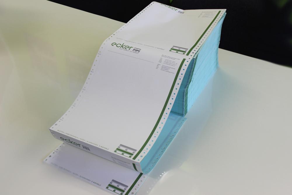 endlospapier mit 2-fach durchschlag