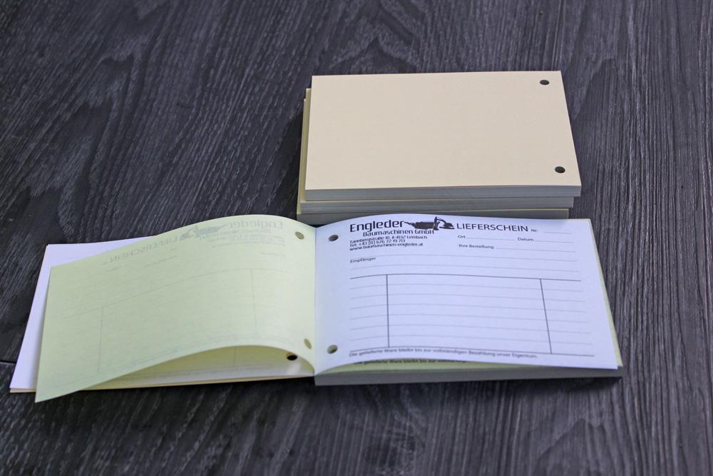 regiebücher mit durchschlag