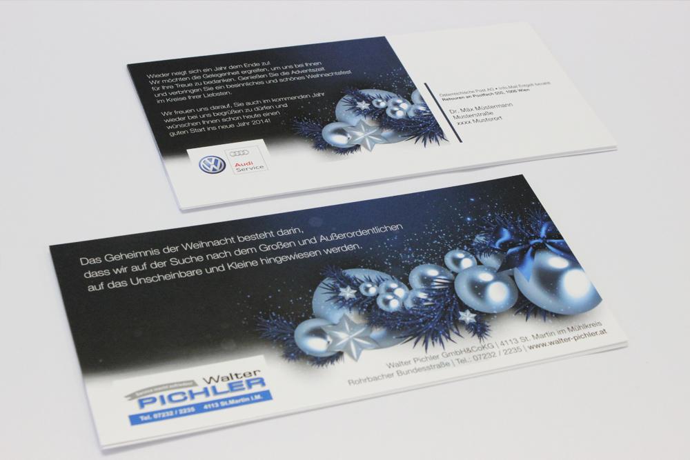 personalisierte weihnachtsaussendung