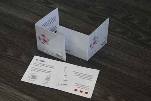 cellophanierte klappkarten