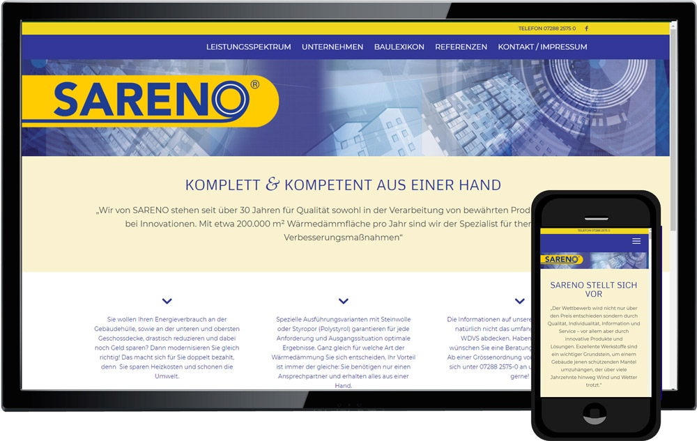 websiteprogrammierung www.sareno.at