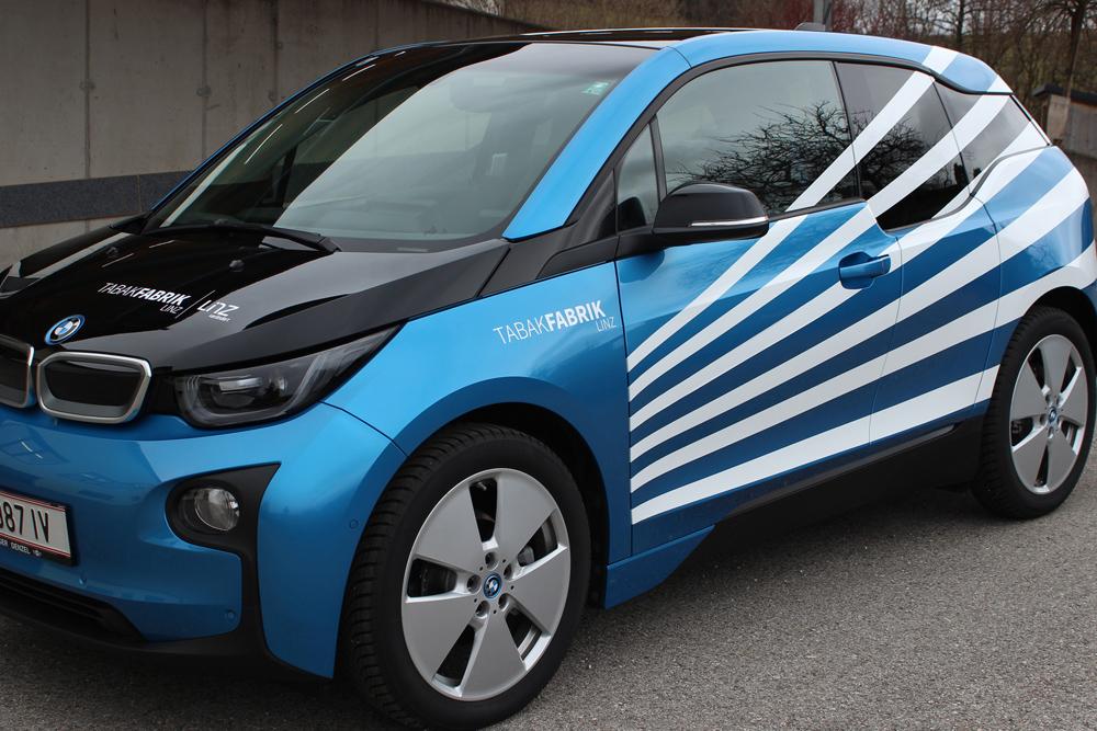 die Agentur Wimmer macht die Fahrzeugfolierungen für Tabakfabrik Linz