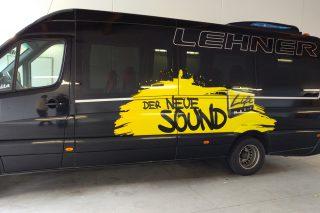 beklebung life radio bus