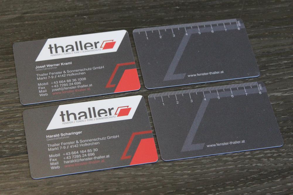 visitenkarten aus PVC