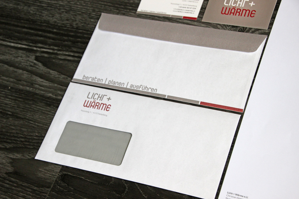 beidseitig bedruckte kuverte