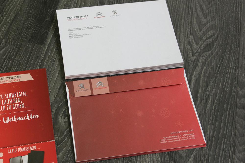 vollfläche bedruckte kuverte C5, personalisiert