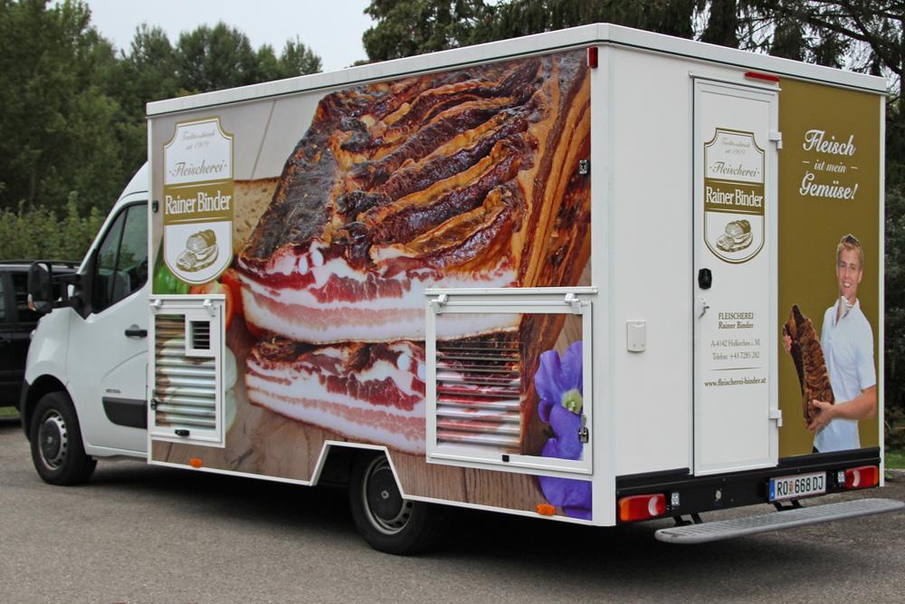 beklebung fleischerei verkaufswagen