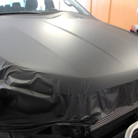 vollfolierung ford ranger wildtrak in schwarz matt