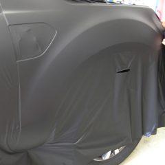 vollfolierung ford ranger wildtrak in schwarz matt