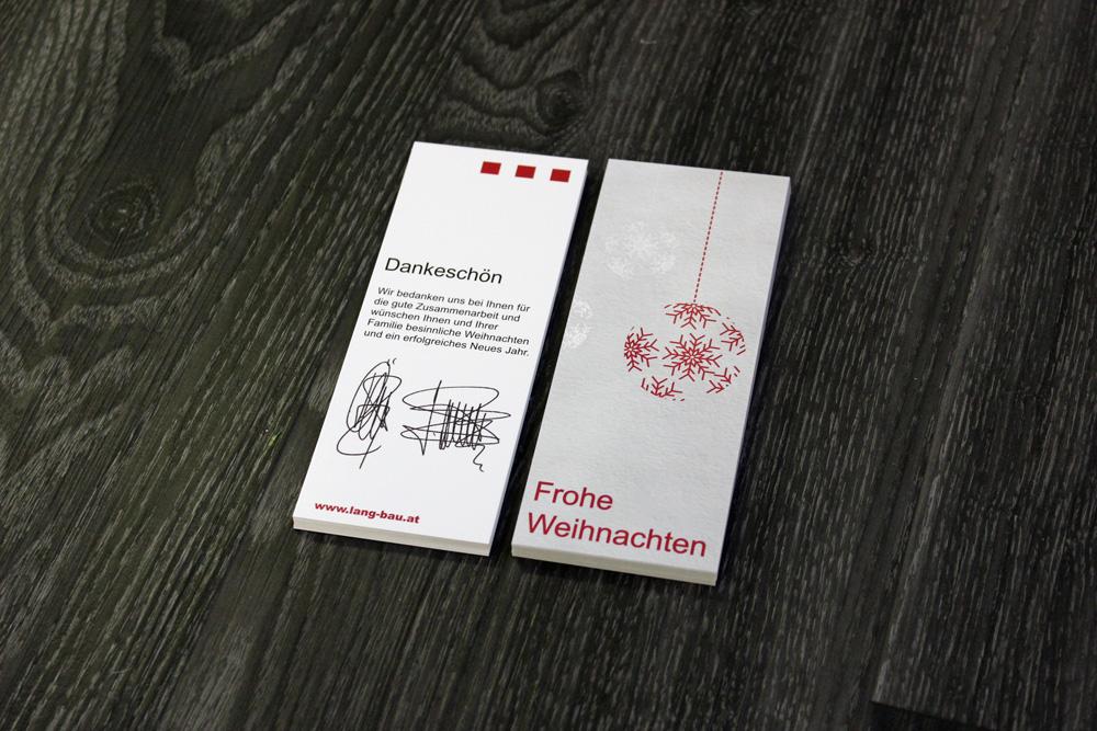 cellophnaierte weihnachtskarten