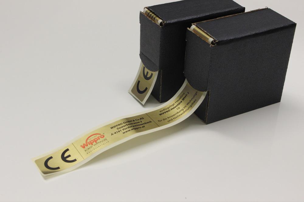folienetiketten golddruck
