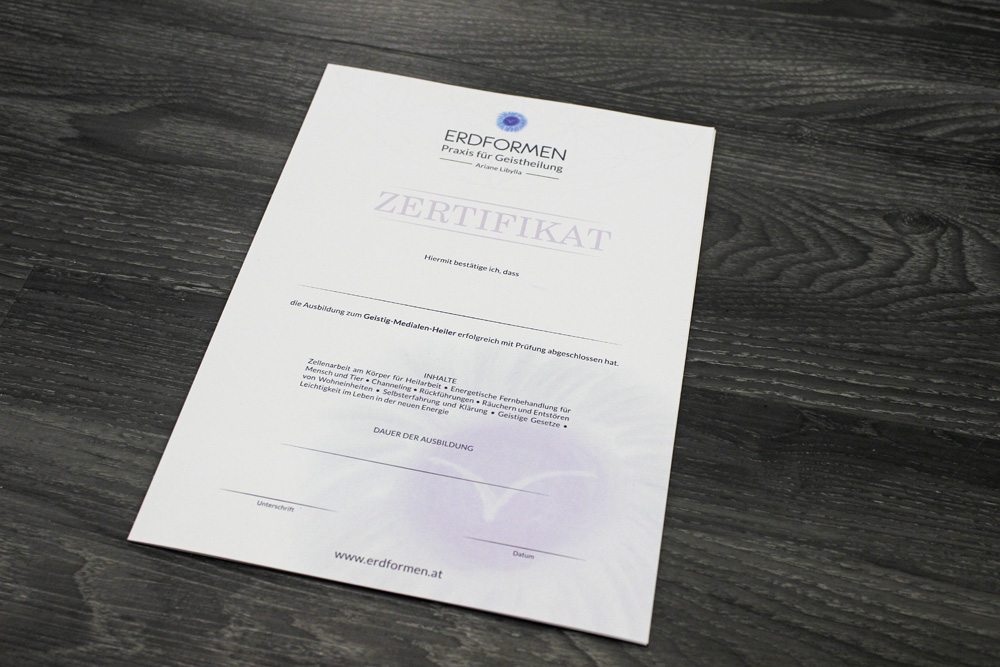 zertifikate A4