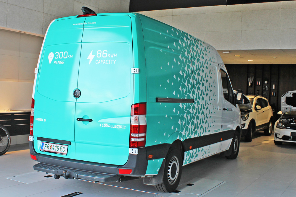 beklebung mercedes sprinter kreisel electric