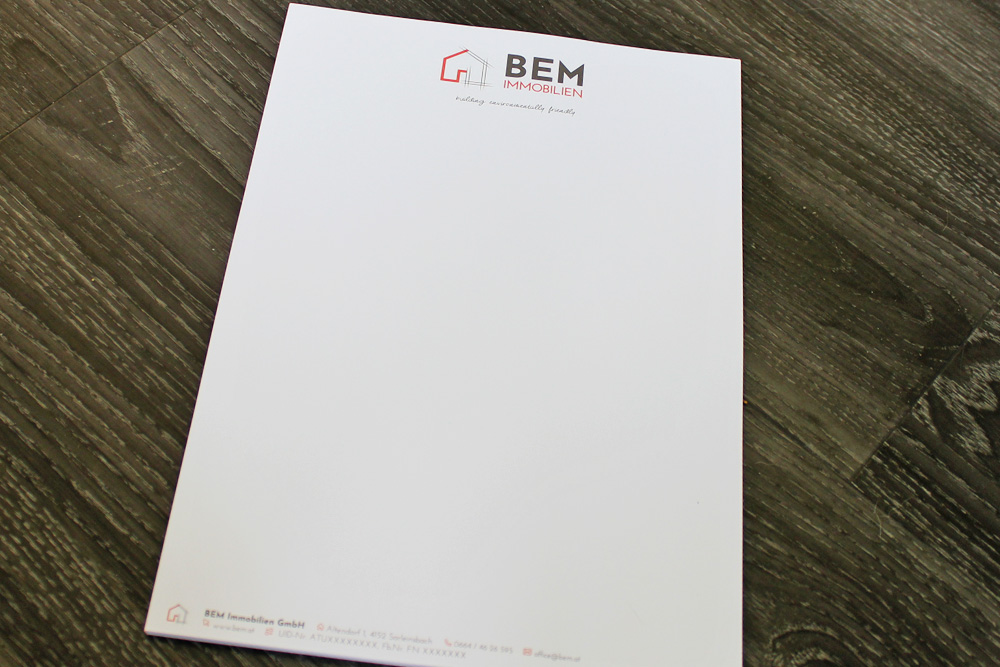 briefpapier für neugründer