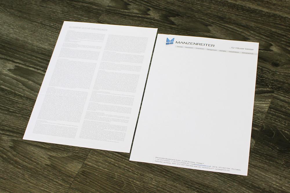 briefpapier 2-seitig A4