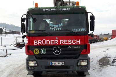 vollfolierung Mercedes Actros lkw