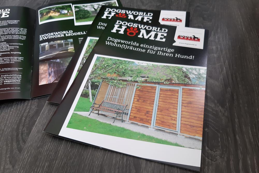 broschüre endformat A4, 16 seiten umfang