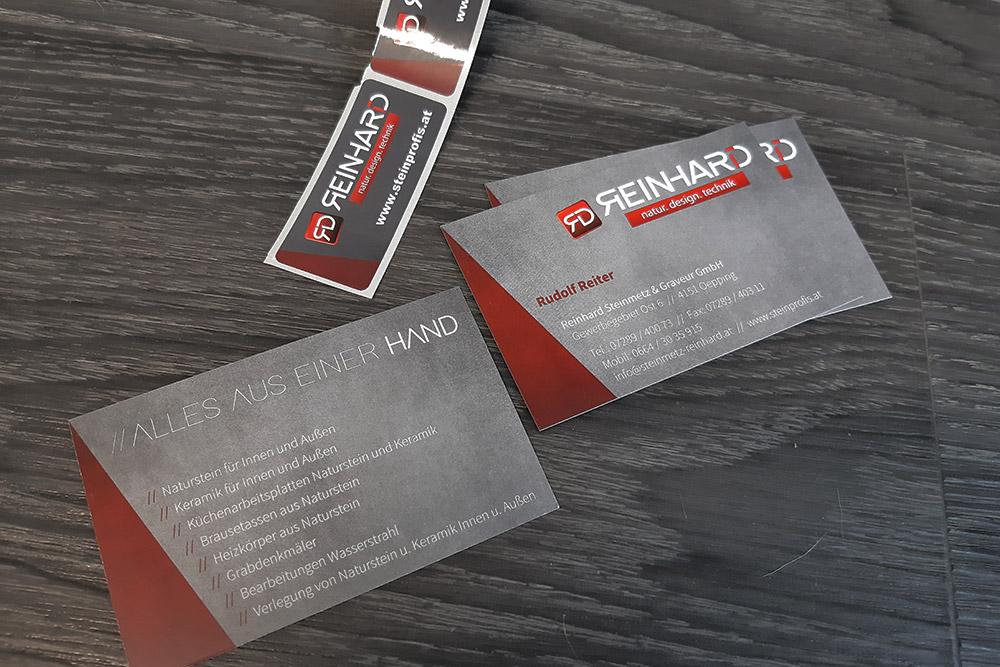 etiketten und visitenkarten