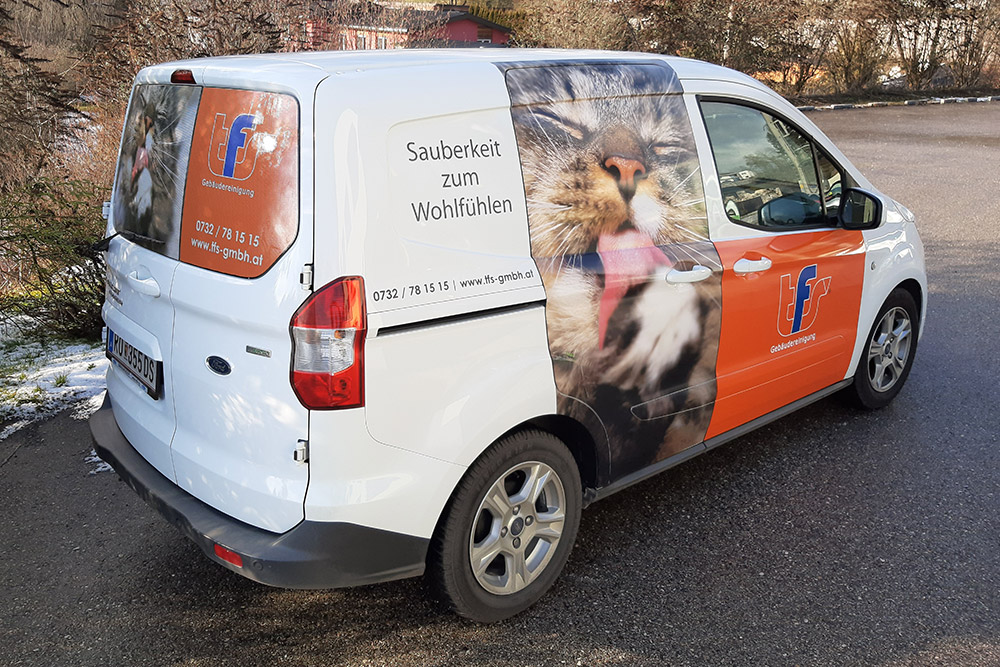 ahrzeugfolierung ford transit connect