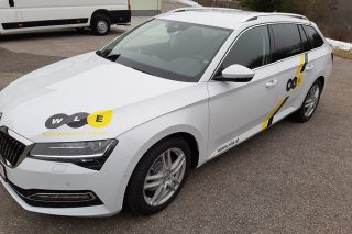 beklebung skoda superb
