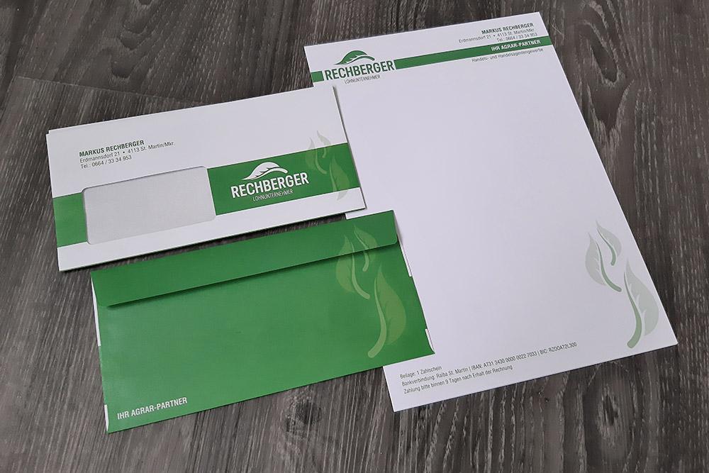 briefpapier und kuverte