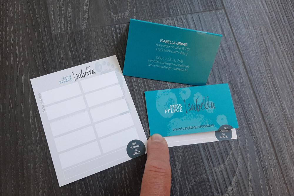 'bonuskarten' im visitenkartenformat