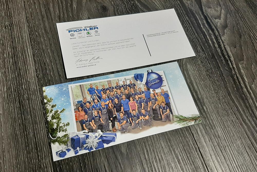 personalisierte weihnachtskarten 210x105mm