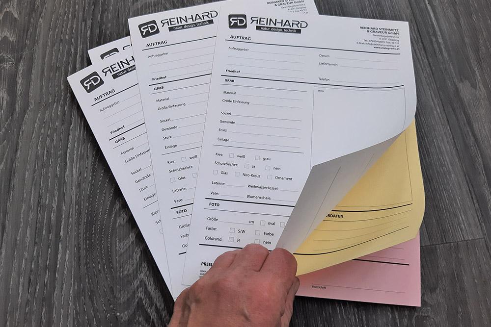 lose blattsammlung durchschreibpapier