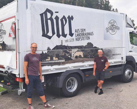 Beklebung LKW Brauerei Hofstetten